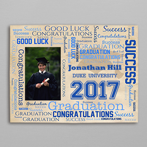 Graduation Photo Word-Art Canvas 9194566