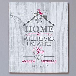 Personalized Home is Wherever I'm With You Canvas 9199696