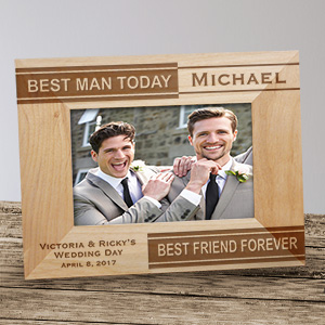 Personalized Best Man Wood Picture Frame | Personalized Wood Picture Frames