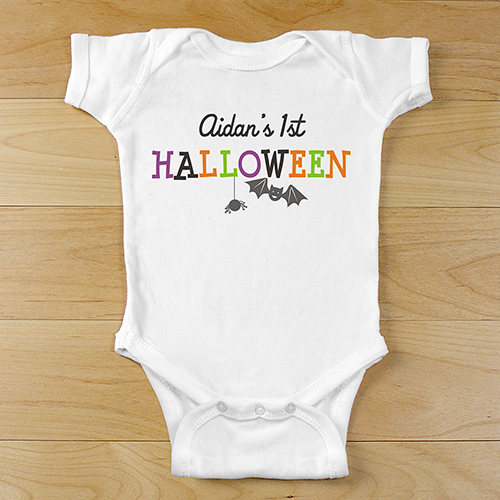 Personalized First Halloween Bodysuit | Personalized Halloween Onesies