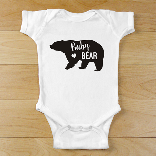 Baby Bear Personalized Infant Bodysuit | Baby Bear Personalized Baby Bodysuit
