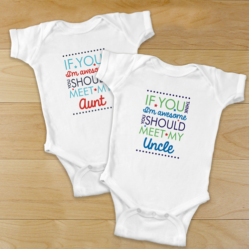 Personalized If You Think I'm Awesome Bodysuit | Unique Personalized Baby Gifts