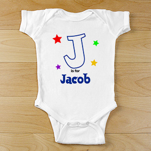 Personalized Bodysuit - Star Design | Customized Baby Gifts