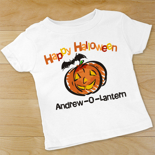 Jack-O-Lantern Personalized Infant Halloween Bodysuit | Personalized Halloween Onesies