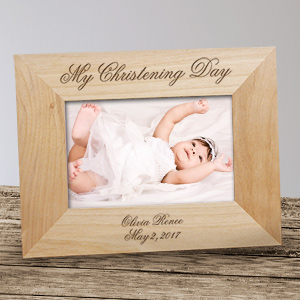 Personalized My Christening Day Wood Picture Frame 933591