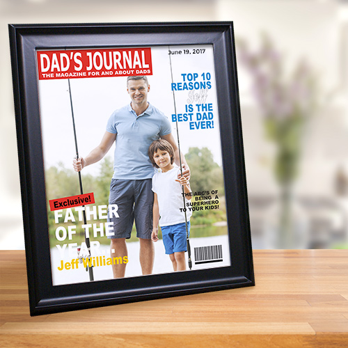 Dad's Journal Magazine Cover Frame | Father's Day Photo Gifts