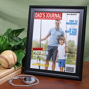 Dad's Journal Magazine Cover Frame