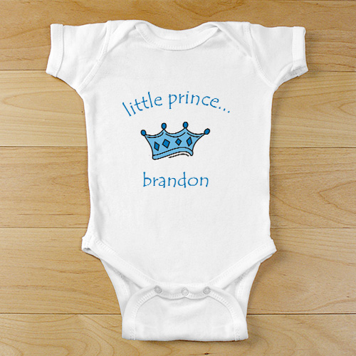 Little Prince Personalized Baby Bodysuit | Prince Baby Personalized Bodysuit