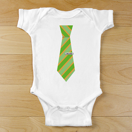 Personalized Suit and Tie Infant Bodysuit | Personalized Baby Gifts