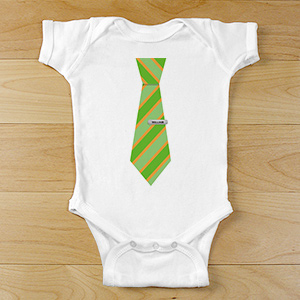 Personalized Suit and Tie Baby Bodysuit | Personalized Baby Gifts