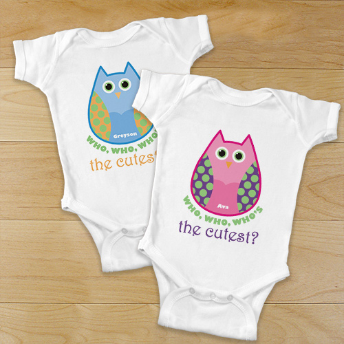 Personalized Who's the Cutest Baby Bodysuit | Unique Baby Shower Gifts