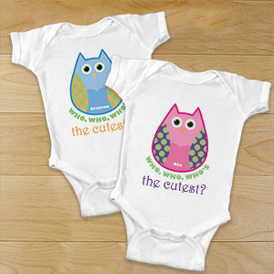 Personalized Owl Infant Bodysuit