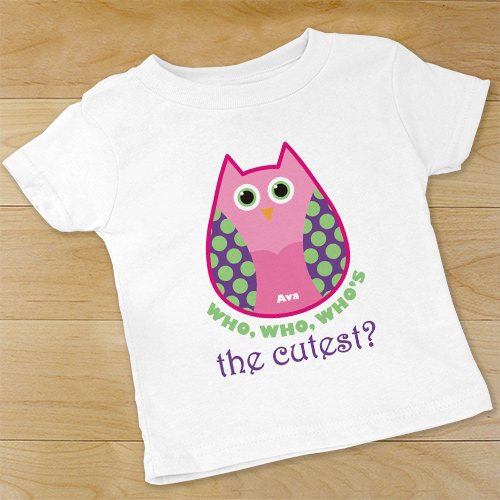 Owl Personalized Baby Bodysuit | Personalized Baby Gifts with Owl Theme