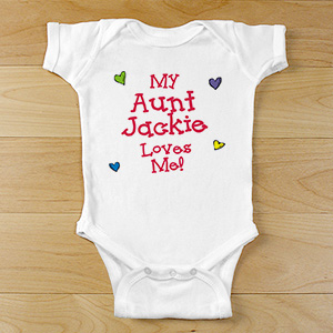 Who Loves Me Personalized Infant Creeper