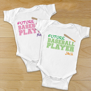 Personalized Future Athlete Infant Apparel | Customized Baby Gifts