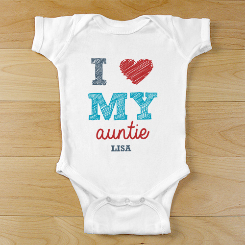 Personalized Love Infant Apparel | Unique Baby Shower Gifts