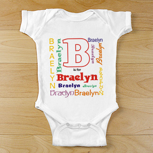 A is For... Personalized Infant Bodysuit | Personalized Baby Gifts