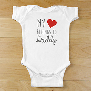 Personalized Belong's To Onesie | Personalized Valentines Day Gifts
