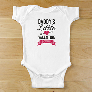 Personalized Little Valentine Infant Bodysuit