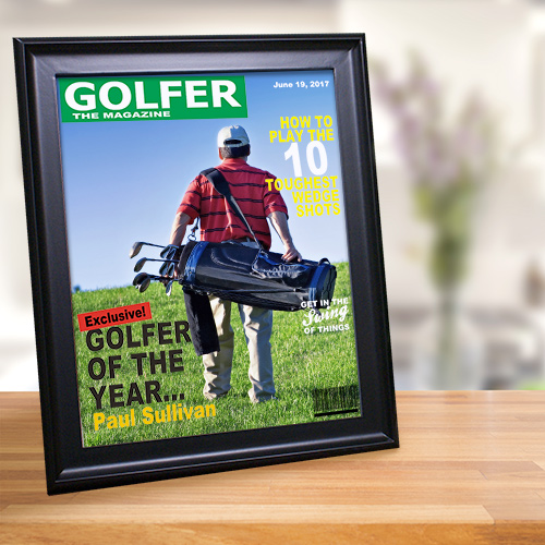 Personalized Golfer Magazine Cover Frame 941655