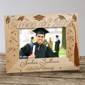 Engraved Graduation Wood Picture Frame  95889X