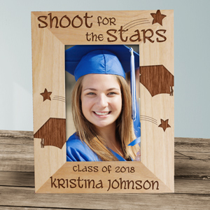 Shoot For The Stars Engraved Graduation Frame | Graduation Picture Frames
