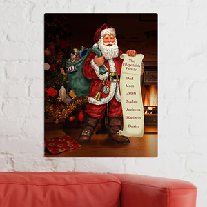 Personalized Santa's List Canvas