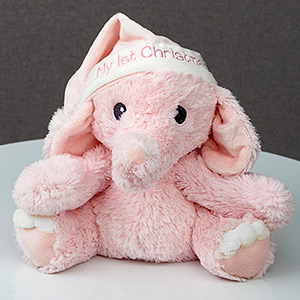 My First Christmas Plush Elephant for Girl | Baby's First Christmas Gifts