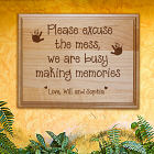 Abernook Engraved Family Wooden Plaque