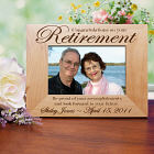 Abernook Engraved Retirement Wooden Picture Frame