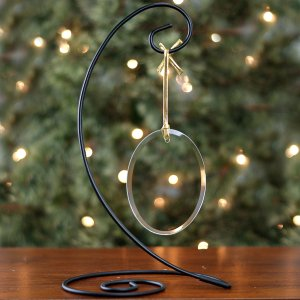 Silver Spiral Ornament Stand ORNSTAND2