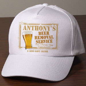 Beer Removal Service Personalized Hat