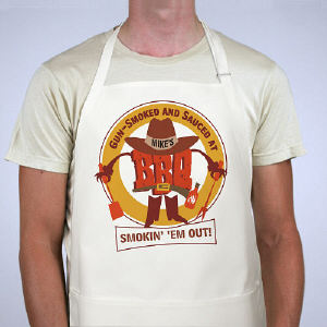 Smokin' 'Em Out BBQ Personalized Apron