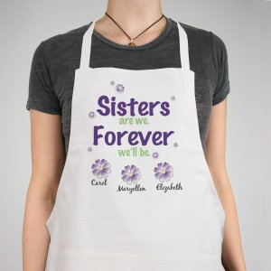 Sisters Forever Personalized Apron