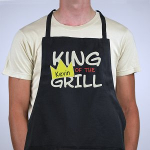 Personalized King Of The Grill Apron