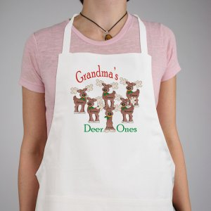 Deer Ones Personalized Apron | Personalized Christmas Aprons
