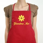 Embroidered Daisy Kitchen Apron | Personalized Aprons