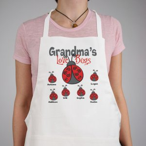 Personalized Love Bugs Apron