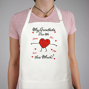 Loves Me This Much Personalized Valentine Apron