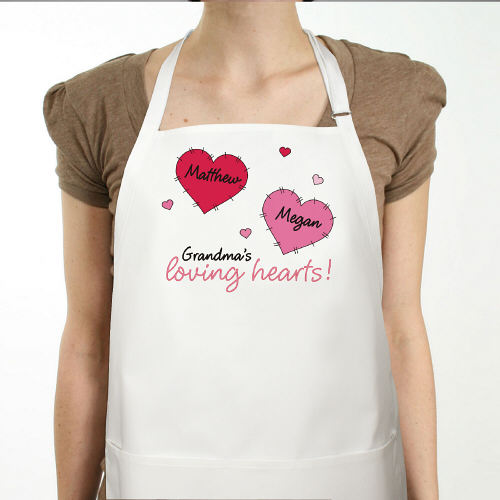 Loving Hearts Personalized Valentine Apron
