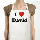 I Love You Personalized Valentine Apron