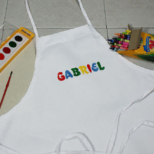 Embroidered Kids Art Apron