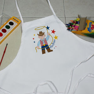 Personalized Cowboy Youth Apron