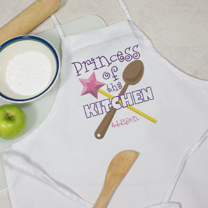 Personalized Princess of the Kitchen Youth Apron