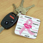 Hope and Love Personalized Breast Cancer Key Chain