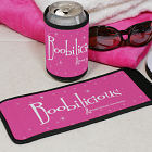 Boobilicious Breast Cancer Awareness Can Wrap Koozie