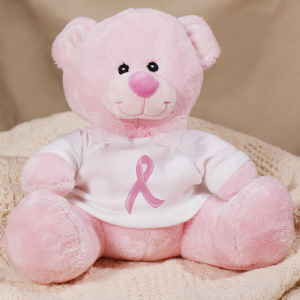 Hope Ribbon Breast Cancer Awareness Teddy Bear