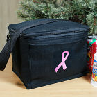 Embroidered Pink Ribbon Breast Cancer Lunch Cooler