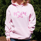Embroidered Breast Cancer Awareness Hope Hooded Sweatshirt