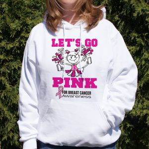 Personalized Go Pink Breast Cancer Hooded Sweatshirt